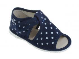 40f6845310f4 RAK papučky - detská domáca obuv P 100014-3 TM - LOŠ modré bodky