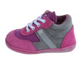 Detská obuv Jonap C - 051 S šedo-ružová šnúrky 9f8b93e8fb