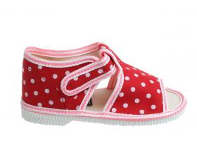 4d935a729406 Detská obuv MANIK F31-LOŠ-D červená bodky
