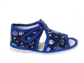 caa01f61c85f RAK papučky - detská domáca obuv P 100014-3 M3 - LOŠ - modrá more