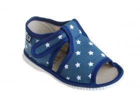 75f700d77653 RAK papučky - detská domáca obuv P 100014-3 ST - LOŠ - modrá hviezdy
