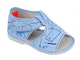 e1216bace1d2 Papučky MANIK - EU-LOŠ-1S-F096-CH- sv.modrá GEO