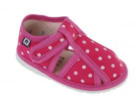 9bc2ea0bf811 RAK papučky - detská domáca obuv P 100015-3 RB - LZŠ - ružová bodky