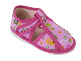 7b07854da8a6 RAK papučky - detská domáca obuv P 100015-3 R3 - LZŠ - ružová more
