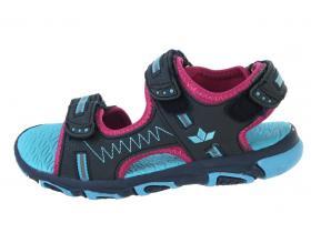639bb17b2 Letné sandále - detská obuv LICO VCL - 470139 marine/pink/turkis